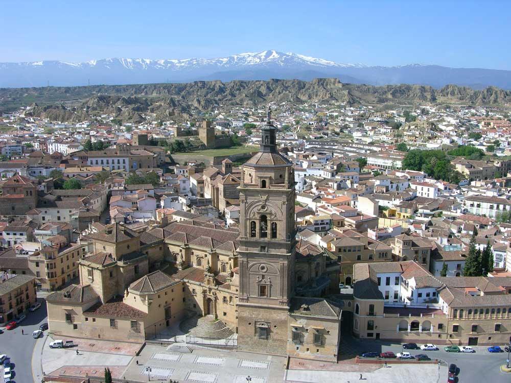 vista panorámica de Guadix (Granada)