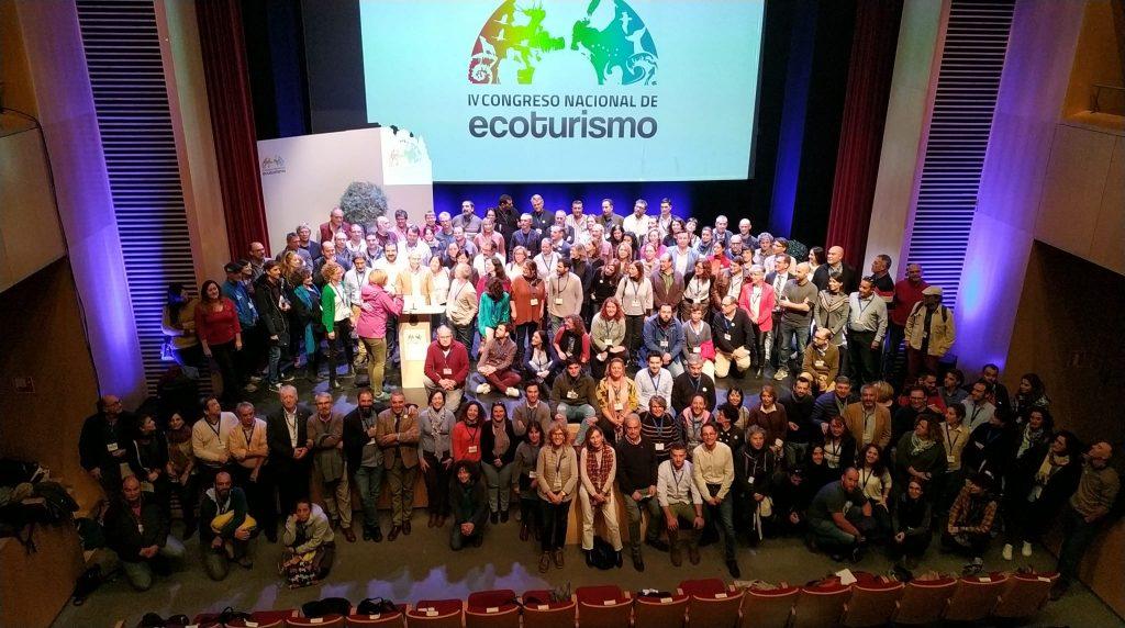 Grupo de asistentes al congreso Nacional de ecoturismo en Guadix, Granada